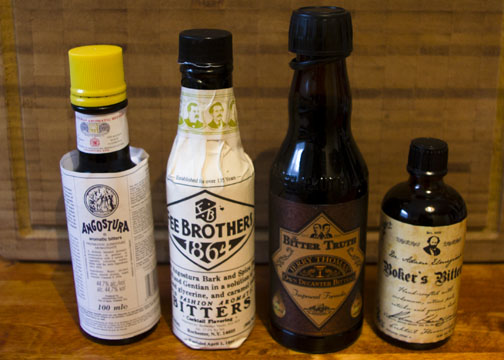Different types of bitters used