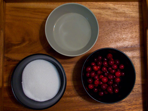 Cranberry Syrup Ingredients